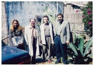 アルバレス・ブラボ邸入り口、大きな竜舌蘭が