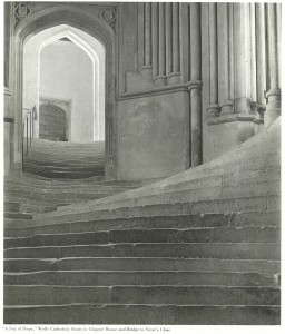 """A Sea of Steps""Wells Cathedral, Steps to Chapter House, 1903 プラチナ・プリント"