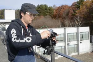 屋外での撮影には、Nikon F機を使用しています。