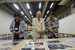 2015年度ヤング・ポートフォリオ選考風景 左から:森山大道氏、細江英公館長、北島敬三氏