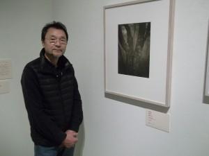 志鎌 猛氏、展示室にて