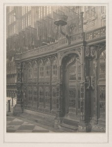 Frederick H. Evans, Westminster Abbey, Chapel of Henry VII Bronze Tomb, south side of, 1911-12